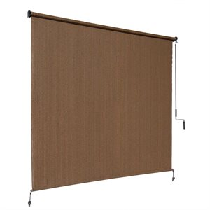 Mocha Outdoor Roller Shade
